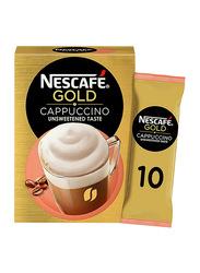 Nescafe Gold Cappuccino Unsweetened Taste Coffee, 10 Sachets x 14.2gm