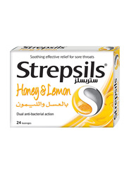 Strepsils Soothing Honey & Lemon, 24 Lozenges