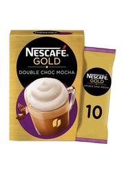 Nescafe Gold Double Chocolate Mocha Coffee Mix, 10 Sachets x 23g
