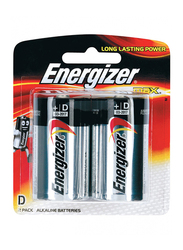 Energizer Max +D Alkaline Battery, 2 Piece, Multicolor