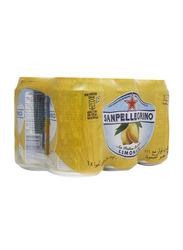 San Pellegrino Limonata Sparkling Beverage, 6 Cans x 330ml