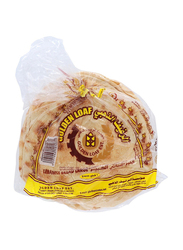 Golden Loaf Flat Arabic White Bread, 6 Pieces, Big Size