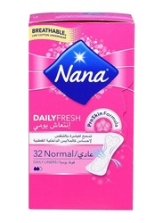 Nana Daily Fresh Normal Panty Liners Sanitary Pads, 32 Pads