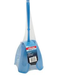 Vileda Crystal Toilet Cleaner Brush with Holder Set, Blue