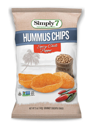 Simply 7 Spicy Chilli Pepper Hummus Chips, 130g