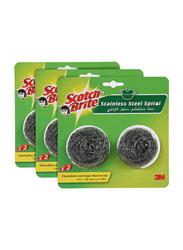 3M Scotch Brite 2 Metallic Spiral Ball, 3 Pieces
