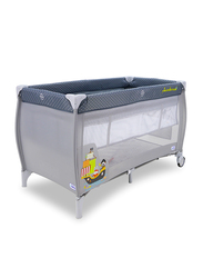 Asalvo Pirate Boat Smooth Travel Cot, Grey