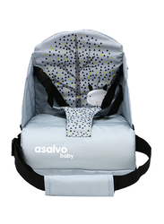 Asalvo Go Anywhere Nordic Booster Seat, Grey/Blue