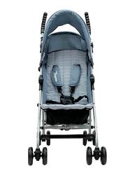 Asalvo Yolo Stripe Stroller, Grey