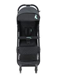 Asalvo Travel Stroller, Black/Aqua