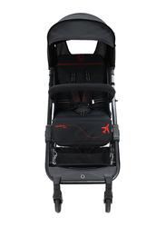 Asalvo Travel Stroller, Black/Red