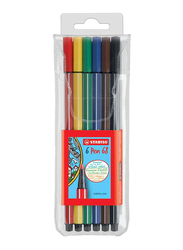 Stabilo Pen 68 Sketch Pen, 6 Pieces, Assorted Colors