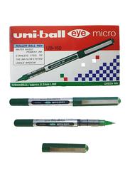 Uniball 12-Piece Eye Micro Tip Rollerball Pen Set, 0.5mm, Ub-150, Green