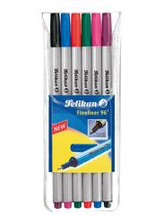 Pelikan 96 Fineliner Pen Set, 6 Pieces, Multicolor