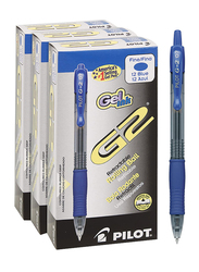 Pilot 36-Piece G-2 07 Retractable Premium Gel Ink Fine Roller Ball Pen Set, Blue