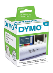Dymo Labelwriter Labels, 2 Rolls of 260, S0722400, White