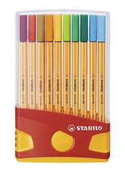 Stabilo Point 88 Fineliner Pen Set, 20 Pieces, Multicolor