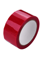 Benkeg Full Transfer High Adhesive Tamper Evident Security Tape, 50mm x 50m, Red
