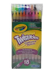 Crayola Twistables Colored Pencils Set, CY687418, 18 Pieces, Multicolor