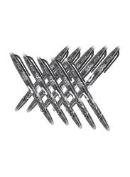 Pilot 10-Piece Frixion Fine Point Erasable Gel Ballpoint Pens, 0.5mm, Black