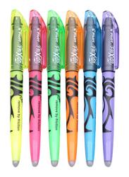 Pilot 6-Piece Sw-fl Frixion Pastel Color Fluorescent Erasable Highlighter Marker Pen, Multicolor