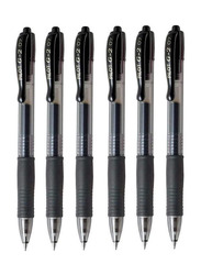 Pilot 6-Piece G-2 07 Fine Retractable Gel Ink Rollerball Pen Set, 0.7mm, Black