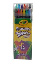Crayola Erasable Twistables Colored Pencils Set, CY687508, 12 Pieces, Multicolor