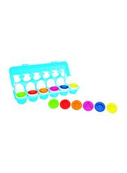 Little Hero 12-Piece Match & Count Eggs Sleeve, Multicolour