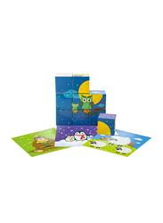 Little Hero 9-Piece 6 Graphics Senses Cube Puzzle, Multicolour