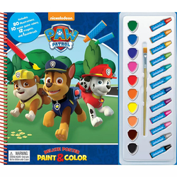 Nickelodeon Paw Patrol Deluxe Poster Paint and Color, Hardcover Book, By: Phidal Publishing Inc.