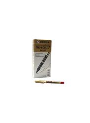 Zebra 10-Piece Zeb-Roller DX7 Direct Ink Roller Pen Set, 0.7mm, Red