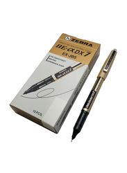 Zebra 10-Piece Zeb-Roller DX7 Direct Ink Roller Pen Set, 0.7mm, Black