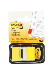 Post-it 3M Flags Sticky Notes, 50 Flags, 2.54 x 4.32cm, 680-5, Yellow