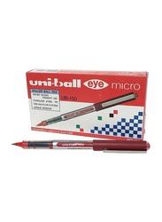 Uniball 12-Piece Eye Micro Roller Pen, UB150, 0.5mm, Red