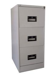 Furnit 3 Drawer Filing Cabinet, Grey