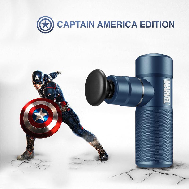 Rotai Marvel Captain America Massage Gun, Blue