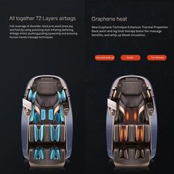 Rotai Gemini Massage Chair, Black/Red