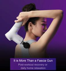Rotai Massage Fascia Gun, Grey/White