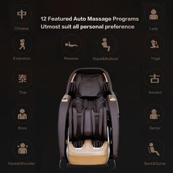 Rotai RT8713 Multi Functional Massage Chair, White/Beige/Brown