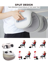 Rotai Deluxe Foot & Knee Massager Shiatsu Therapy Machine with Heat, HC-9, Pearl White