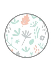 Mums & Bumps Dreamgenii Printed Pillow Cover, Grey/Coral
