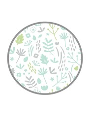 Mums & Bumps Dreamgenii Leaf Printed Pillow Cover, Green/Grey