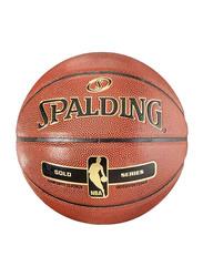 Spalding Size-7 NBA Gold Series Composite Basketball, Orange