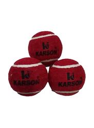 Karson Cricket Tennis Ball, 4-Piece, Red