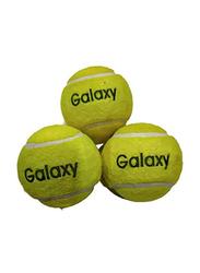 Galaxy Heavy Duty Cricket Tennis Ball Set, 4 Pieces, Yellow
