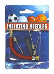 Hnfshop 5-Piece Athletic Balls Inflating Needles & Adapters Set, Silver