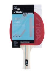 Stiga Hefty Hobby Table Tennis Racket, Black/Red