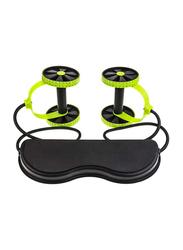 Zzkjniu Abdominal Tools Home Gym Belly Roller Damper, Black/Green
