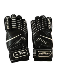 Size-11 Pro-Action Football Gloves, Black