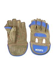 Karson Split Leather Wicket Keeping Cricket Gloves, 1 Pair, Multicolor